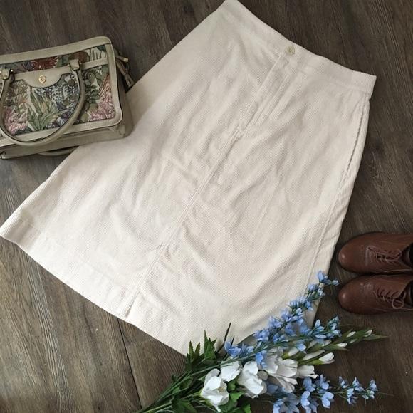 Beautiful Cream Corduroy Skirt!
